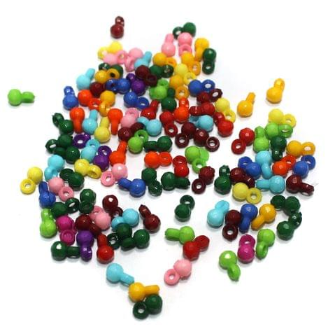100 gm Acrylic Latkan Beads Multicolor 7x4mm