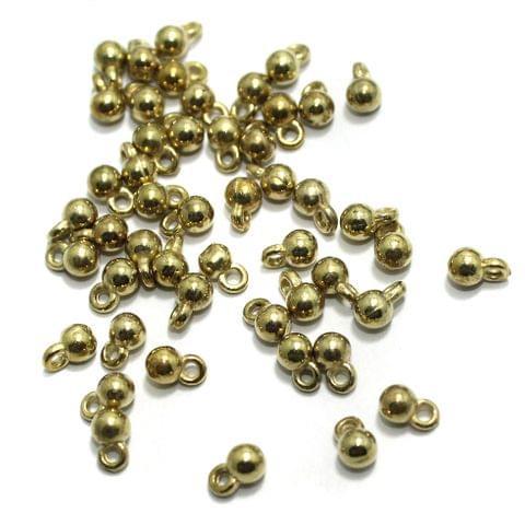 100 gm CCB Latkan Charms Light Gold 6x4mm