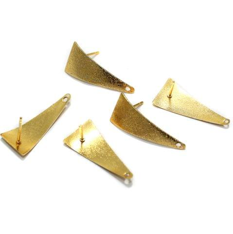 20 Pcs Earrings Components Golden Matte 28x12mm