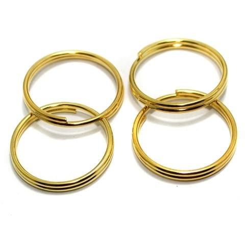 25 Pcs Golden Key Chain Rings 25mm