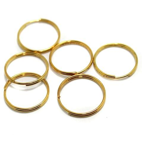50 Pcs Golden Key Chain Rings 20mm