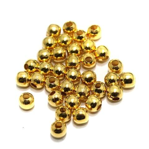 100 gm Golden Metal Balls 5mm, Approx 480 Pcs