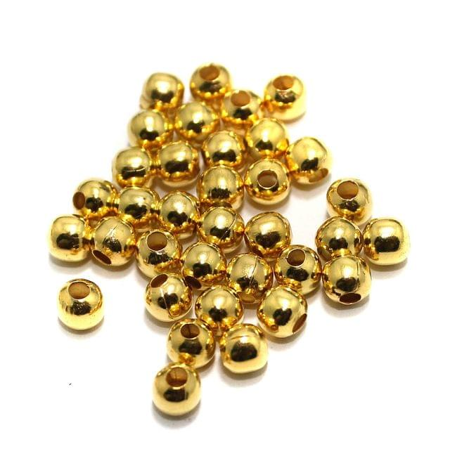 100 gm Golden Metal Balls 5mm, Approx 480 Pcs