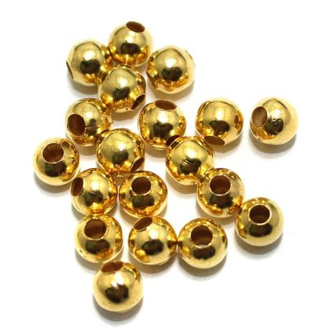 100 gm Golden Metal Balls 6mm, Approx 350 Pcs