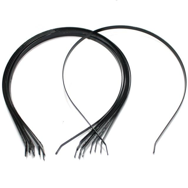 10 Pcs Hairband Bases Black 15 Inch