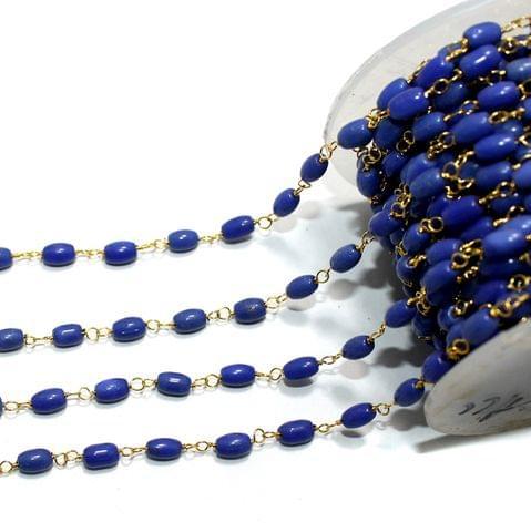 1 Mtr Glass Beaded Chain Blue