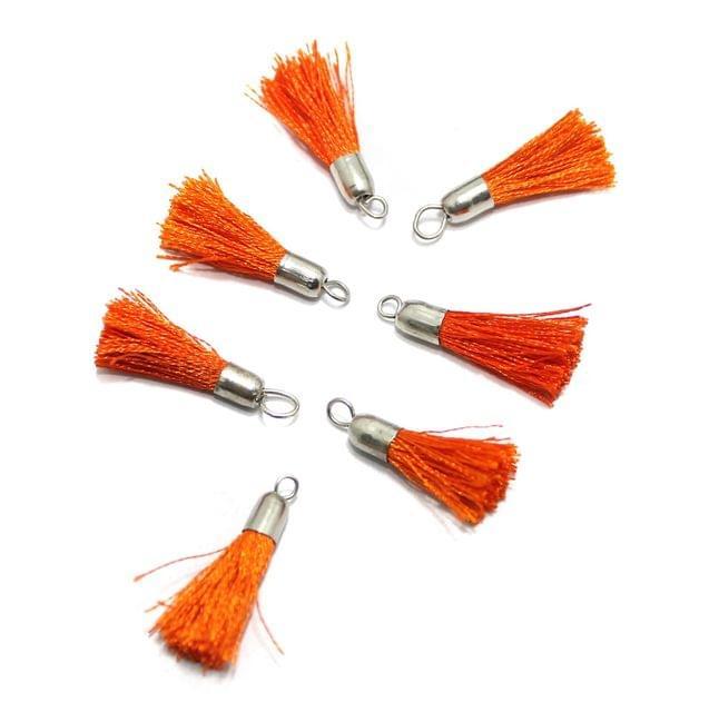 100 Pcs Silk Thread Tassel 1 Inch Orange