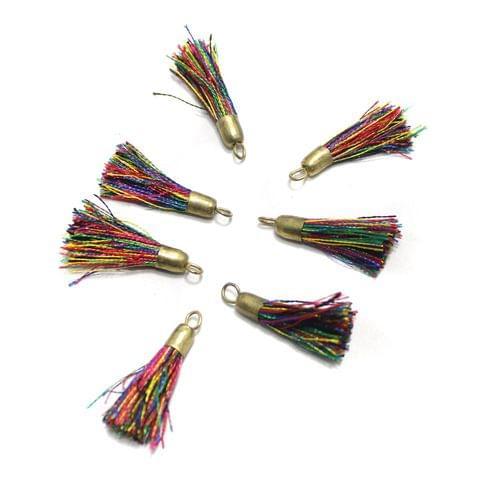 100 Pcs Silk Thread Tassel 1 Inch Multi