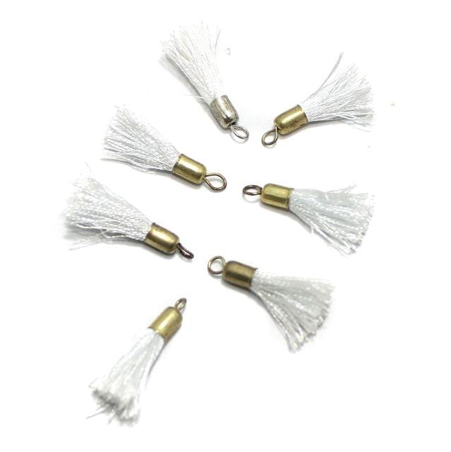 100 Pcs Silk Thread Tassel 1 Inch White