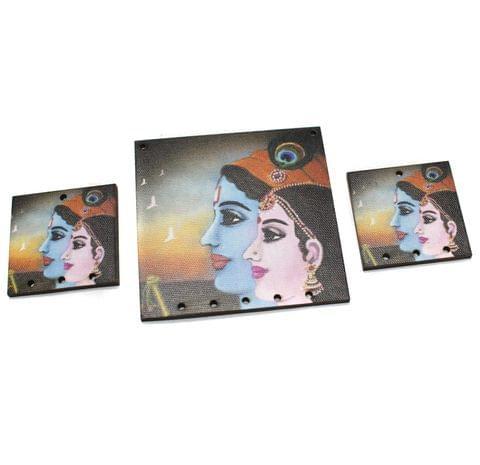 Radha Krishna Pendants Set
