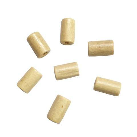 30 pcs, acrylic 4x 8mm cream cyclindrical shape beads with full hole