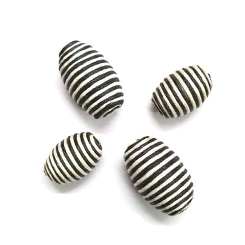 30 pcs, acrylic zebra drum barrel 30mm, 24mm shape beads with full hole (15 pcs each shape)