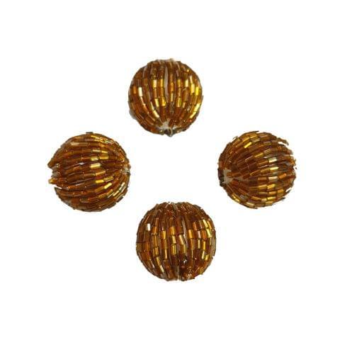 15 pcs, acrylic golden 24mm tube round shape beads with full hole