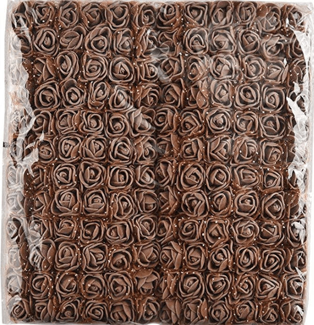 288pcs, Brown foam flowers for jewellery making, tiara making (2cm)