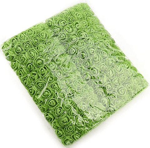 288pcs, green foam flowers for jewellery making, tiara making (2cm)
