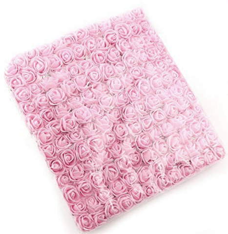 288pcs, baby pink foam flowers for jewellery making, tiara making (2cm)