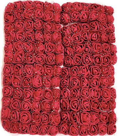 288pcs, maroon foam flowers for jewellery making, tiara making (2cm)
