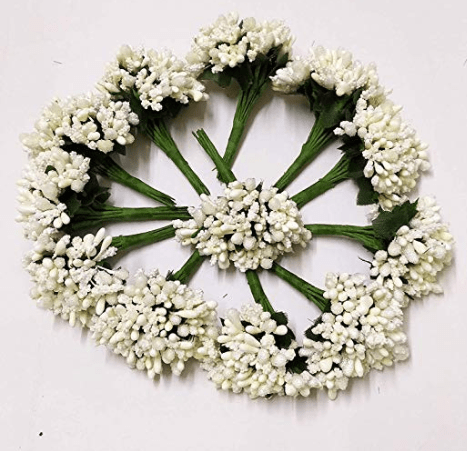 144pcs , white pollen for jewellery making, tiara making