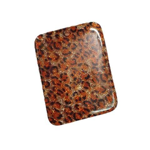 30 pcs, acrylic rectangle shape tiger beads 60 mm with hole at top