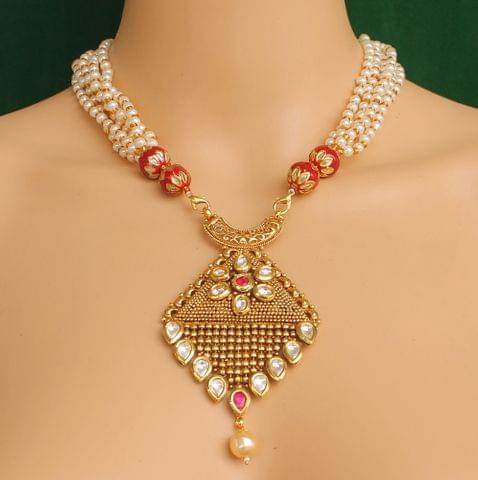 Designer Kundan Necklace Set