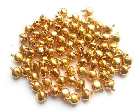 Golden Finish Metal Ghungroo Beads