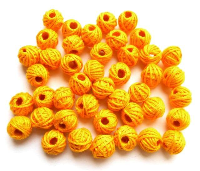 75 pieces of yellow thread beads