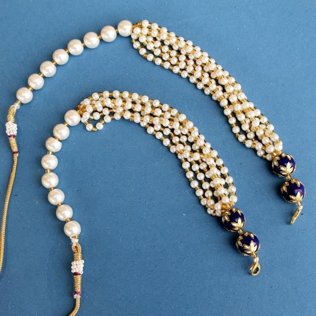 1 Pc Pearl Beaded Pendants Dori White