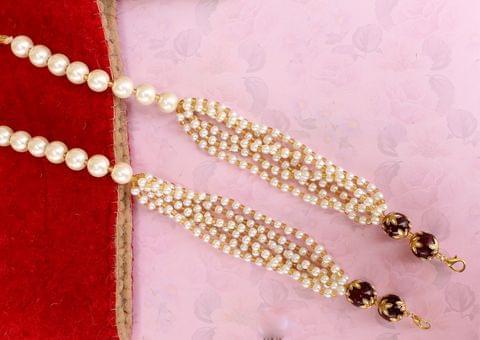 1 Pc Pearl Beaded Pendants Dori White