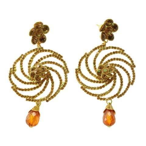 Foppish Mart Riche Antique Gold Stone Studded  Earrings  For Women