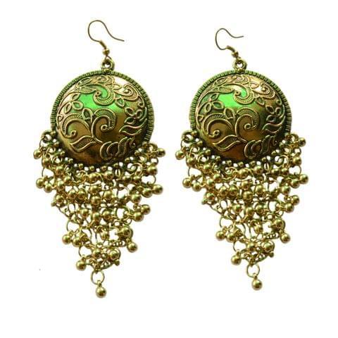 Foppish Mart  Antique Gold Coin Inspired Boho Dangler Earrings For Women