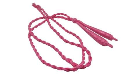 Handmade Jewellery Making Cotton Dori Back Rope Braided 1cm 18inch (Pack of 5 Pieces) [Color 2-> Pink]