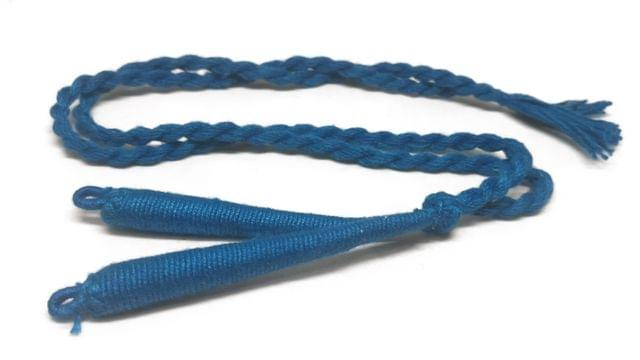 Handmade Jewellery Making Cotton Dori Back Rope Braided 1cm 18inch (Pack of 5 Pieces) [Color 12-> Blue]