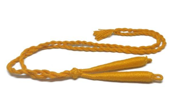 Aumni Crafts Handmade Jewellery Making Cotton Dori Back Rope Braided 1cm 18inch (Pack of 5 Pieces) [Color 13-> Light Orange]