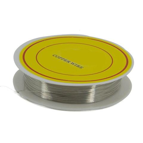 Copper Wire for Jewellery Making Beading Gear Wire Wrapping 0.2mm 32 Gauge (1 roll, 40 Metres/roll) [Color 1-> Greyish Silver Color]