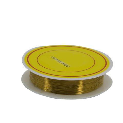 Copper Wire for Jewellery Making Beading Gear Wire Wrapping 0.2mm 32 Gauge (1 roll, 40 Metres/roll) [Color 2-> Golden Brown]