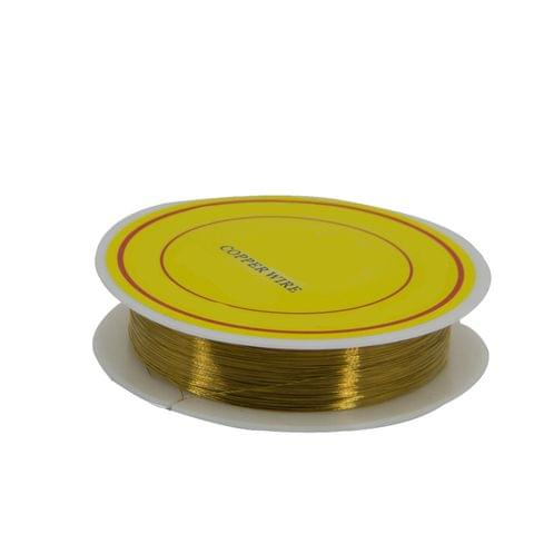 Aumni Crafts Copper Wire for Jewellery Making Beading Gear Wire Wrapping 0.2mm 32 Gauge (1 roll, 40 Metres/roll) [Color 2-> Golden Brown]