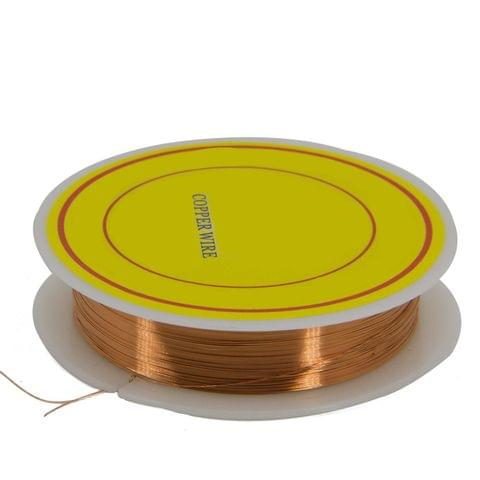 Aumni Crafts Copper Wire for Jewellery Making Beading Gear Wire Wrapping 0.2mm 32 Gauge (1 roll, 40 Metres/roll) [Color 3-> Brown Copper Color]