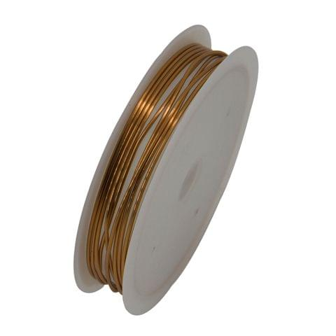 Aumni Crafts Copper Wire for Jewellery Making Beading Gear Wire Wrapping 1mm 18 Gauge (1 roll, 2.5 Metres/roll) [Color 3-> Brown Copper Color]