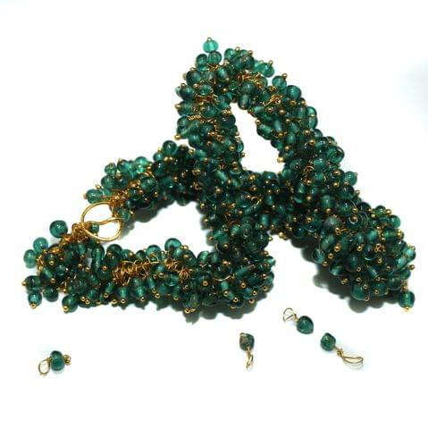 Loreal Glass Beads Teal 4mm For Earring, Necklace and Bracelet