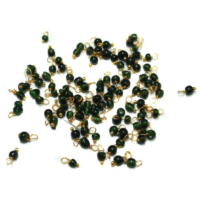 Loreal Glass Beads Green 4mm For Earring, Necklace and Bracelet