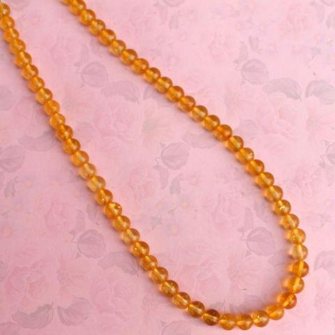 Citrine Gemstone Necklace helps remove negativity