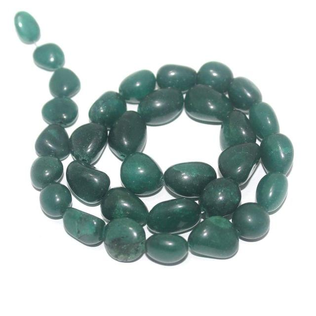 Tumbled Dark Green Diy Stone Beads 14-10 mm