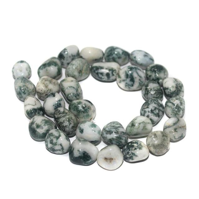 Tumbled Tree Agate Stone Beads 11-15 mm