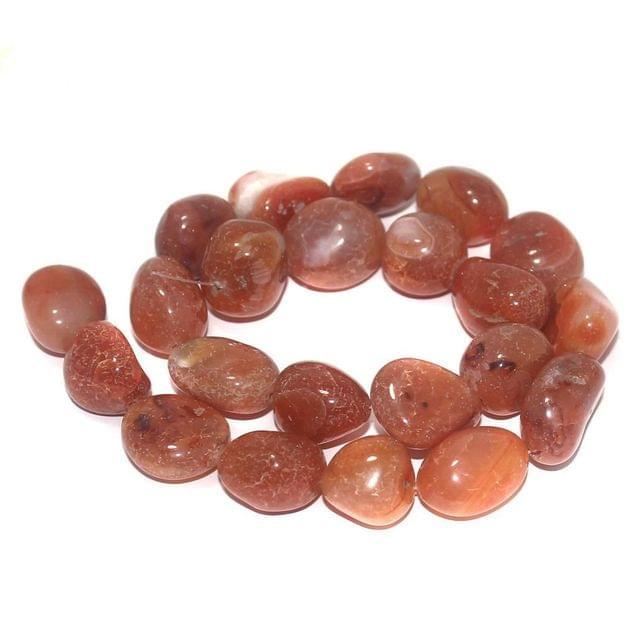 Tumbled Carnelian Stone Beads 21-16 mm