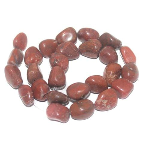 Tumbled Red Jasper Stone Beads 19-13 mm