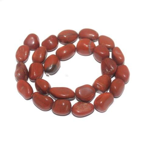 Tumbled Red Jasper Stone Beads 18-13 mm