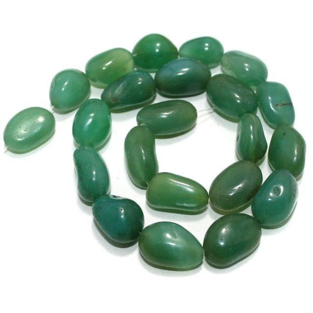 Tumbled Green Diy Stone Beads 22-16 mm