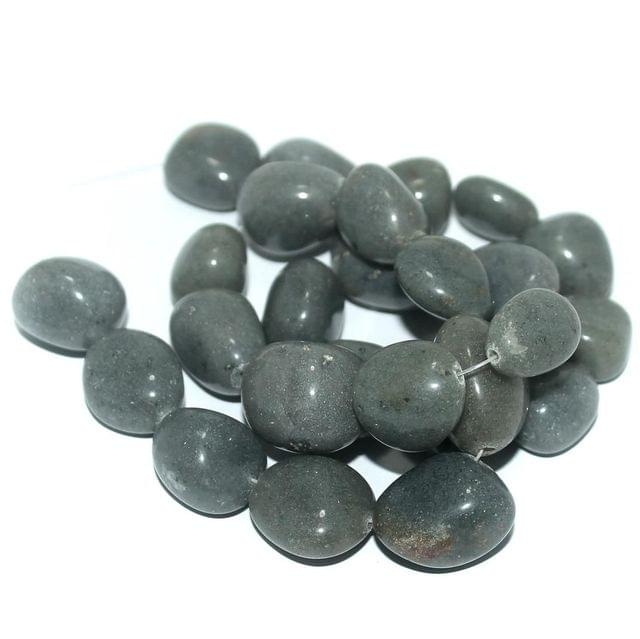 25+ Tumbled Grey Dly Stone Beads 15-21 mm