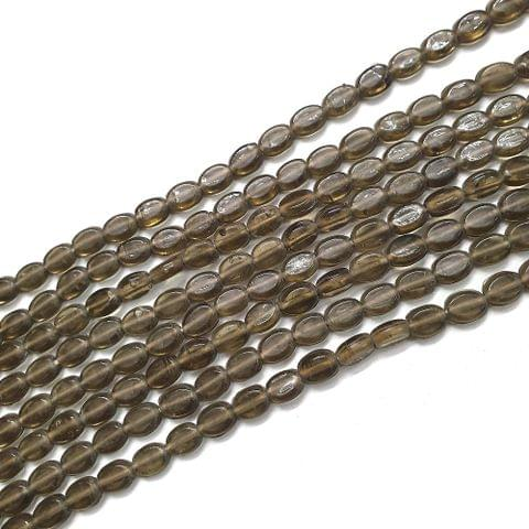 Brownish Oval Glass Bead Strings