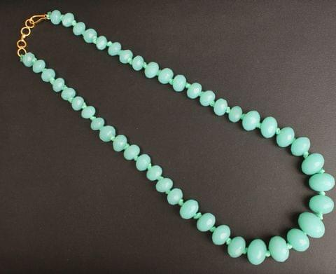 Sea Green Crystal Glass Necklace